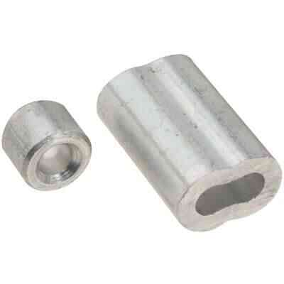 "Prime-Line Cable Ferrules and Stops, 3/16"", Aluminum"