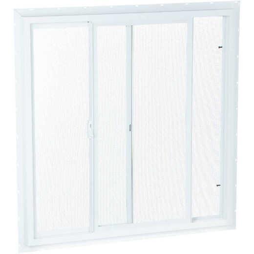 Northview 23-1/2 In. W. x 23-1/2 In. H. White PVC Single Glazed Utility Sliding Window