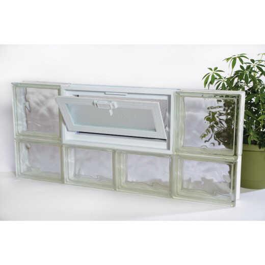 Clear Choice 32 In. W x 14 In. H Nubio Vented Glass Block Window