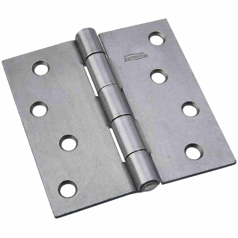 National 4 In. Square Steel Broad Door Hinge Image 1