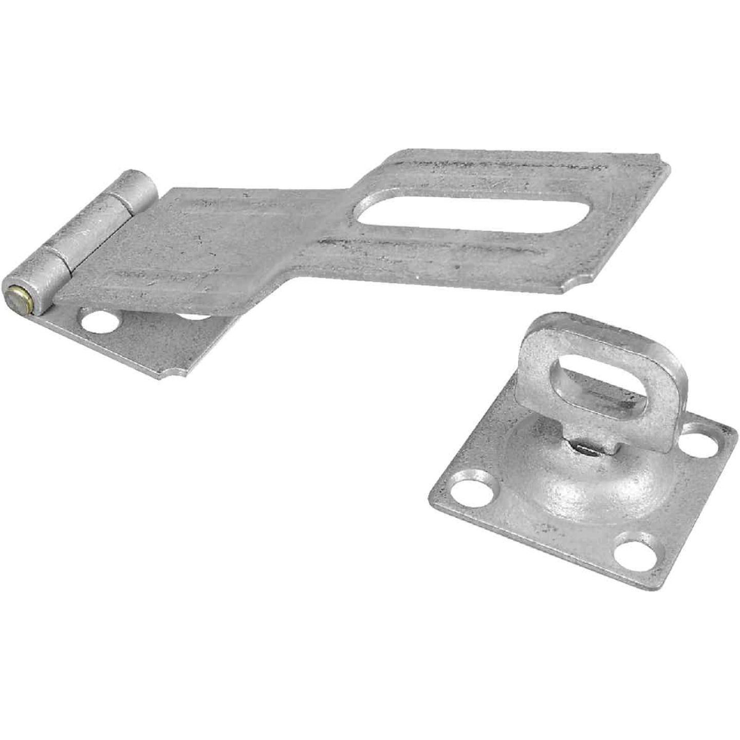 National 4-1/2 In. Galvanized Swivel Safety Hasp Image 1