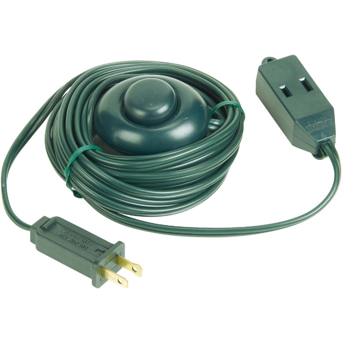 Do it 15 Ft. 18/2 Green Extension Cord with Foot Switch Image 1