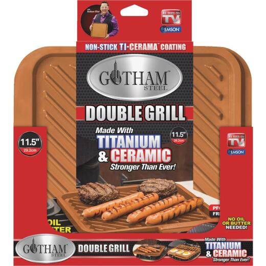 Gotham Steel Aluminum 11.5 In. Griddle/Grill