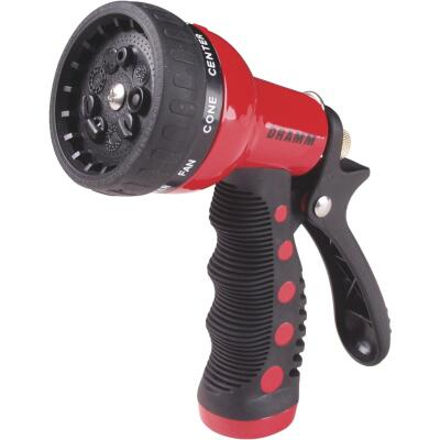 Dramm Heavy-Duty Metal 9-Pattern Nozzle, Red