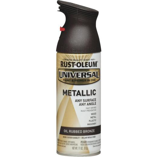 Rust-Oleum Universal 11 Oz. Metallic Satin All-Surface Spray Paint & Primer In One, Oil Rubbed Bronze