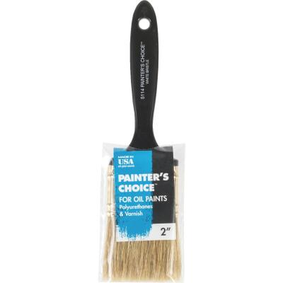 Wooster Painter's Choice 2 In. White China Bristle Flat Paint Brush