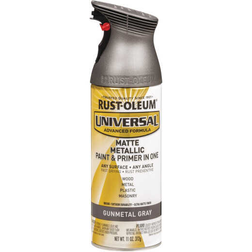 Rust-Oleum Universal 11 Oz. Matte Metallic Gunmetal Gray Spray Paint
