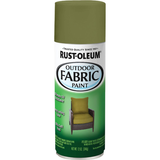 Rust-Oleum 12 Oz. Flat/Matte Outdoor Fabric Spray Paint, Olive Green